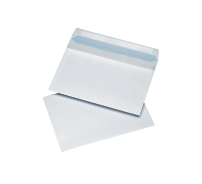 500 White C5 Non Windowed Self Seal Envelopes (162mm x 229mm)