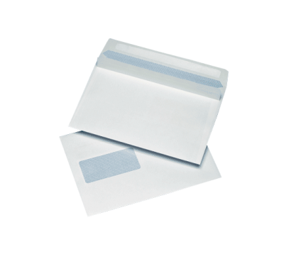 500 White C5 Windowed (45mm x 90mm) Self Seal Envelopes (162mm x 229mm)