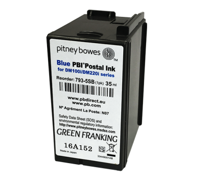 Brand New Original Pitney Bowes DM110i Blue Ink Cartridge