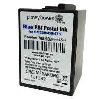 Brand New Original Pitney Bowes DM300c, DM400c & DM475c Blue Ink Cartridge
