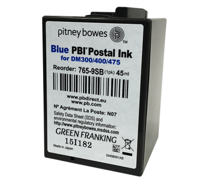 Brand New Original Pitney Bowes DM300M & DM400M Blue Ink Cartridge