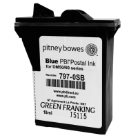 Brand New Original Pitney Bowes DM50, DM55 & K700 Blue Ink Cartridge