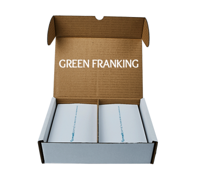 1000 Double Sheet Universal Franking Labels (500 sheets with 2 per sheet)